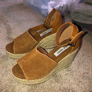 NWOB Steve Madden JAYLEN Wedge Espadrille Sandals